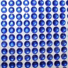 KLA0007 akutės skersmuo 6 mm, mėlyna spalva, klijuojama akrilinė akutė, 36 juostelės po 14 vnt.
