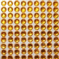 kla0009 eyes diameter 6 mm, yellow color, glued acrylic eye, 36 strips of 14 pcs.