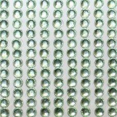 kla0014 eyes diameter 4 mm, light, green color, glued acrylic eye, 45 strips of 22 pcs.