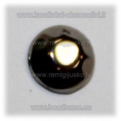 klp0015 apie 6 x 2.5 mm, metalo spalva, akrilinė akutė, apie 52 vnt.