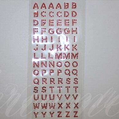 klr0007 raidės skersmuo 10 mm, raudona spalva, klijuojama akrilinė raidė.