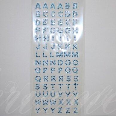 klr0009, raidės skersmuo 10 mm, žydra spalva, klijuojama akrilinė raidė
