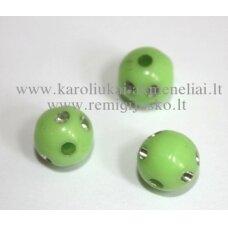 KP0065 apie 8 mm, apvali forma, salotinė spalva, su akutėmis, plastikinis karoliukas, 88 vnt.