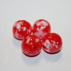 KP0002 apie 16 mm, apvali forma, marga spalva, plastikinis karoliukas, 8 vnt.