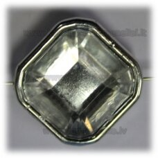 kpv0055 about 25 x 13 mm, rhombus shape, faceted, 1 pc.
