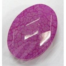 kpv0549 apie 37 x 27 mm, plastikinis karoliukas, 1 vnt.