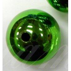 kpv0564 apie 23 mm, apvali forma, plastikinis karoliukas, 1 vnt.