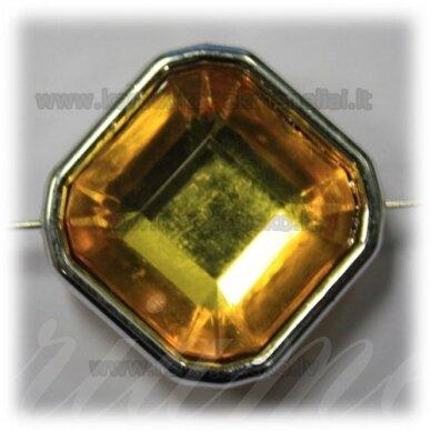kpv0053 apie 25 x 13 mm, rombo forma, briaunuotas, geltona spalva, 1 vnt.