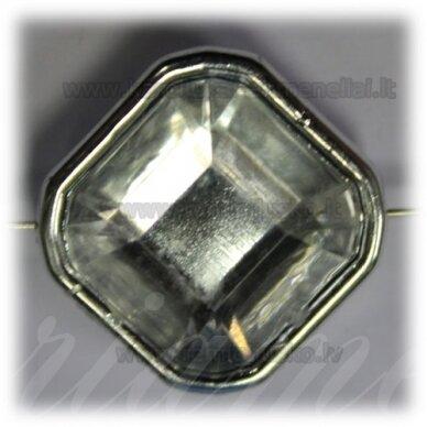 KPV0055 apie 25 x 13 mm, rombo forma, briaunuotas, 1 vnt.