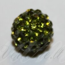 ksam0008-08 about 8 mm, round shape, moss color, shambala bead, 6 pc.