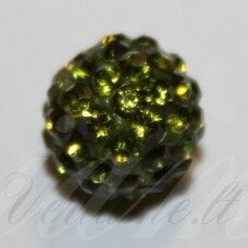 ksam0008-12 apie 12 mm, apvali forma, samaninė spalva, šambalos karoliukas, 4 vnt.