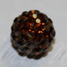 ksam0010-08 about 8 mm, round shape, brown color, shambala bead, 6 pc.