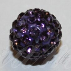 ksam0013-08 about 8 mm, round shape, purple color, shambala bead, 6 pc.