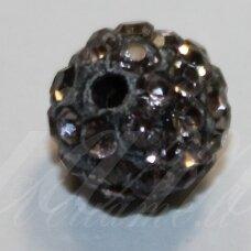 ksam0028-08 about 8 mm, round shape, grey color, shambala bead, 6 pc.