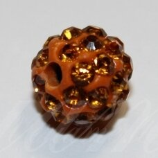 ksam0036-08 about 8 mm, round shape, orange color, shambala bead, 6 pc.