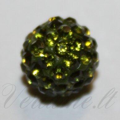 ksam0008-08 about 8 mm, round shape, moss color, shambala bead, 6 pc.