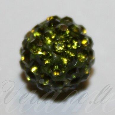 ksam0008-10 apie 10 mm, apvali forma, samaninė spalva, šambalos karoliukas, 1 vnt.