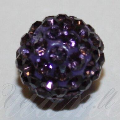 ksam0013-08 about 8 mm, round shape, purple color, shambala bead, 6 pc.