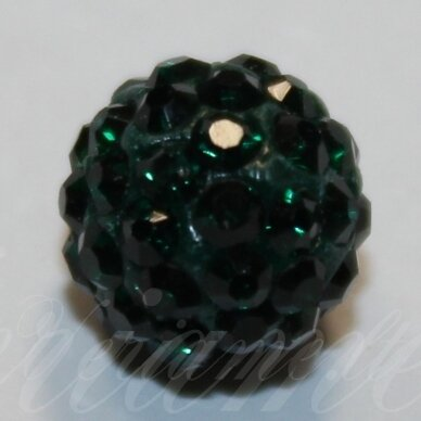 ksam0020-08 about 8 mm, round shape, green color, shambala bead, 6 pc.