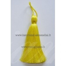 kut0010 about 11 cm, bright, yellow color, tassel, 1 pc.