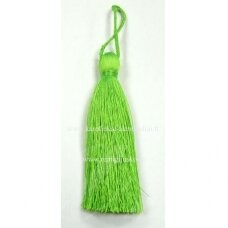 kut0026 about 11 cm, bright, green color, tassel, 1 pc.