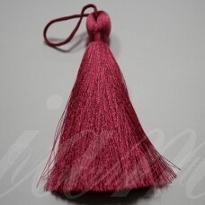 kut5026 about 11 cm, dark, pink color, tassel, 1 pc.