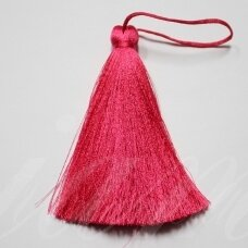 kut5027 about 11 cm, bright, pink color, tassel, 1 pc.