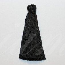 kutbz0001-025 about 25 mm, black color, tassel, 2 pc.