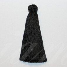 kutbz0001-045 about 45 mm, black color, tassel, 2 pc.
