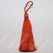 kuts0255-07 apie 7 cm, tamsi, oranžinė spalva, kutas, 1 vnt.