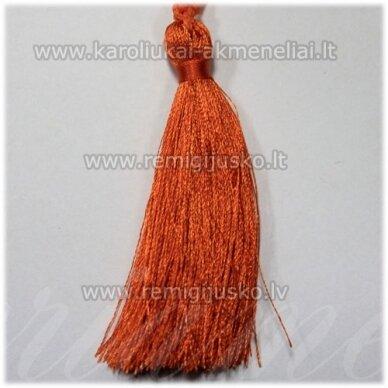 kut0119 apie 7 cm, oranžinė spalva, kutas, 1 vnt.