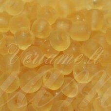 lb0002 m-08 apie 3 mm, apvali forma, skaidrus, matinė, geltona spalva, 25 g.