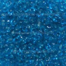 lb0003dmb-06 apie 4 mm, apvali forma, skaidrus, mėlyna spalva, 25 g.