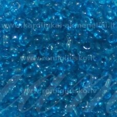LB0003DMB-06 apie 4 mm, apvali forma, skaidrus, mėlyna spalva, apie 500 g.