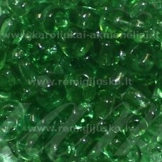 LB0007-08 apie 3 mm, apvali forma, skaidrus, žalia spalva, apie 25 g.