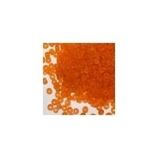 lb0009 m-08 apie 3 mm, apvali forma, skaidrus, oranžinė spalva, apie 450 g.