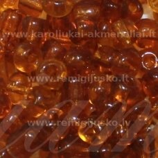lb0013-06 apie 4 mm, apvali forma, skaidrus, ruda spalva, 25 g.