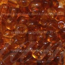 lb0013-12 apie 2 mm, apvali forma, skaidrus, ruda spalva, 25 g.