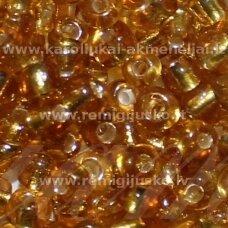 LB0022B-06 apie 4 mm, apvali forma, skaidrus, aukso spalva, viduriukas, su folija, apie 450 g.