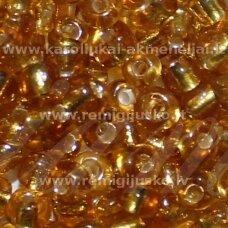 LB0022DMB-06 apie 4 mm, apvali forma, skaidrus, geltona spalva, viduriukas, su folija, apie 500 g.
