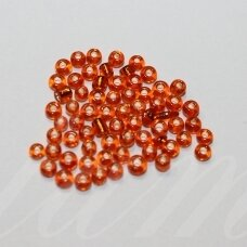 lb0029b-12 apie 2 mm, apvali forma, skaidrus, oranžinė spalva, blizgi danga, viduriukas su folija, apie 450 g.