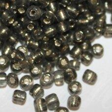 lb0052-08 apie 3 mm, apvali forma, tamsi, pilka spalva, viduriukas su folija, 25 g.