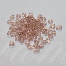 lb0109a-06 apie 4 mm, apvali forma, šviesi, rožinė spalva, skaidrus, blizgi danga, apie 500 g.