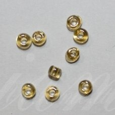 lb0102-08 apie 3 mm, apvali forma, skaidrus, šviesi, geltona spalva, 450 g.