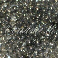 LB0112-08 apie 3 mm, apvali forma, skaidrus, pilka spalva, blizgūs, apie 500 g.