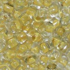 lb0134-06 apie 4 mm, apvali forma, skaidrus, viduriukas geltona spalva, 25 g.