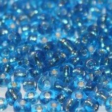 lb0023b-06 apie 4 mm, apvali forma, skaidrus, mėlyna spalva, viduriukas su folija, apie 450 g.