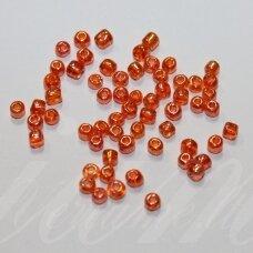 lb3221-06 apie 4 mm, apvali forma, skaidrus, oranžinė spalva, apie 500 g.