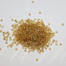 LB0022-12 apie 2 mm, apvali forma, šviesi, geltona spalva, viduriukas su folija, 25 g.