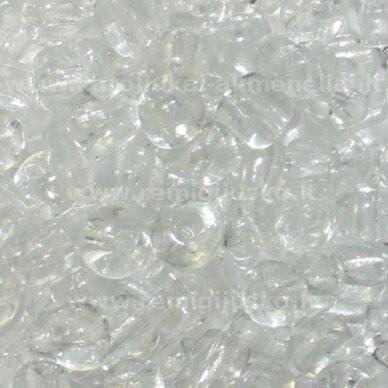 lb0001-12 apie 2 mm, apvali forma, skaidrus, 25 g.